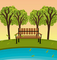 Green park design vector image