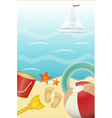 Summer holiday card vector image