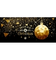 Christmas Gold Ball New Year Design vector image