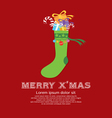 Christmas Sock New Year Concept vector image