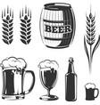 elements for vintage beer festival labels vector image