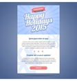 Email template with greeting Christmas and Happy vector image