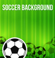 Green soccer background vector image
