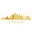 Indianapolis City skyline golden silhouette vector image