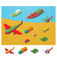 Isometric Transportation collection vector image