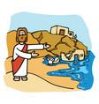 jesus faith like a house built on rock vector image