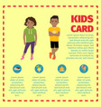 kids card infographic with sweets vector image