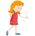 Little girl with happy face vector image