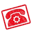 Phone Settings Icon Rubber Stamp vector image