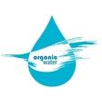 drop of clean water vector image