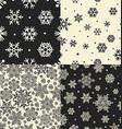 Seamless Snowflakes Patterns set vector image