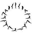 sun salutation surya namaskara b yoga sequence vector image