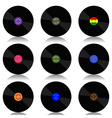 Vinyl record-LP set vector image