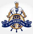 sailor man emblem vector image vector image