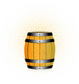 wooden barrel with honey vector image vector image