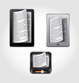 e-reader icons vector image