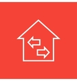 Property resale line icon vector image