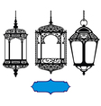Arabic lanterns vector image