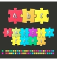 Colored alphabet puzzle vector image