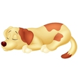 Cute dog cartoon sleeping vector image