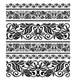 Floral ornament elements and embellishments vector image
