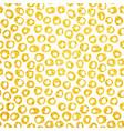 gold hand drawn dots seamless pattern vector image