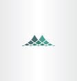 green halftone mountain icon logo vector image