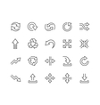 Line Interface Arrows Icons vector image