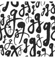 seamless pattern with calligraphy letters g vector image