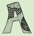 sketchy letter a on light-green background free vector image
