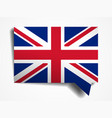 united kingdom flag paper 3d realistic speech vector image