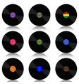 Vinyl record-LP set vector image