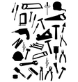 Work tools isolated icons set vector image
