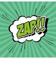 Bubble pop art of zap design vector image