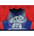 An elephant at the stage vector image vector image