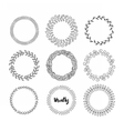 Hand drawn hipster wreath set vector image