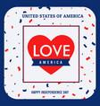 love america background vector image