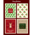 Christmas Card Pattern background vector image