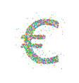 euro abstract circles vector image