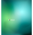 Green and blue blurred design template vector image