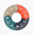 circle arrows infographic Template for diagram vector image