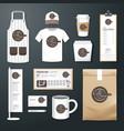 restaurant cafe set flyer menu package uniform vector image