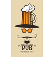 Pub man vector image