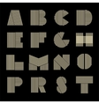 Capital letters set Made of parallel strips vector image