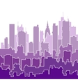Color shades of purple vector image