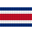 The mosaic flag of Costa Rica vector image