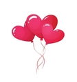 Cartoon of heart shaped balloons vector image