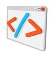 Coding cartoon icon vector image