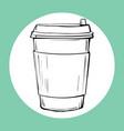 cup of hot drink sketch icon vector image