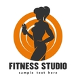 Fitness Center or Studio Template vector image